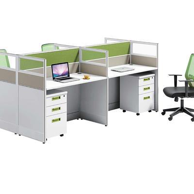 Modern office worker desk employee desk screen workstation