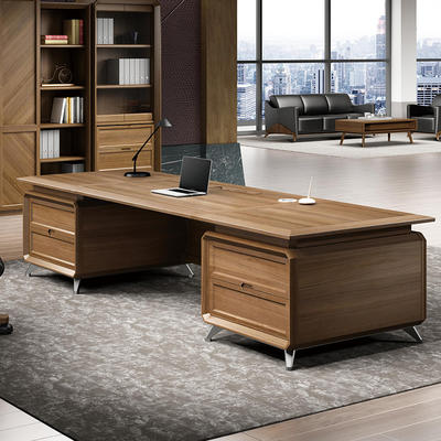 Solid wood boss manager office desk general manager President big class desk